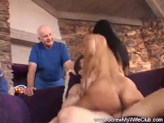 Latina Housewife Riding Strangers Cock