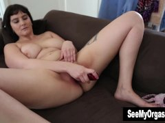 Voluptuous Envy Fucking A Dildo