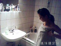 Caught Niece having a bath on hidden cam - iS