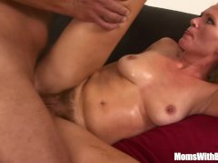 Hairy Pussy Blonde MILF Kathy Anderson Couch