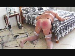 sissyslutbecky auto spanking machine
