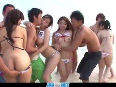 Japonské orgie na pláži