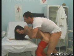 Patient Babe Gets His Doctors Cum