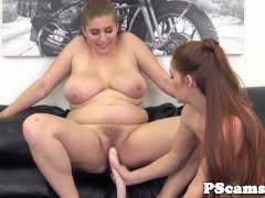 Busty gal Alex Chance toys with Kimberly Brix