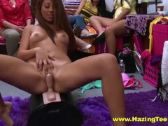 Hot Fingering College Lesbos Try Out A Sybian