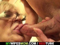 She enjoys sucking and riding her son-in-law