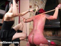 Karina cruels lesbian bdsm of latina slave
