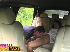 FemaleFakeTaxi Cheating hubby eats pussy
