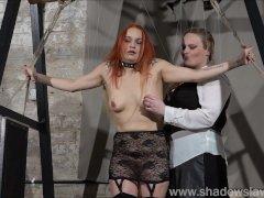 Redhead play piercing slave Marys lesbian sm