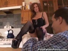 Foot Fetish In The Kitchen