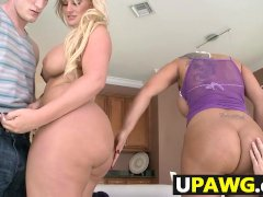 Julie Cash and Kiara Marie Asses Pounded