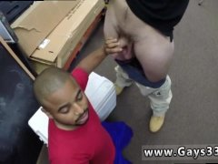 Straight young gay man bound milked