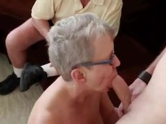 Older couple have a 3some