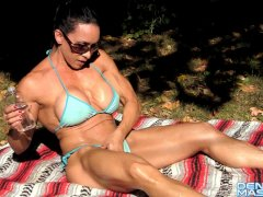 Denise Masino - Bathe Me In The Sun - Female Bodybuilder