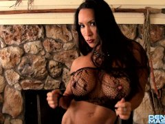 Denise Masino - Fire and Lace Video - Female Bodybuilder