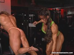 Denise Masino - GYM HEAT Scene07 - Female Bodybuilder