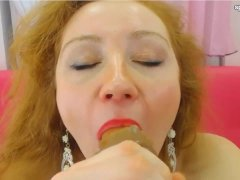 Cool Redhead Milf Playing With Toys On Cam