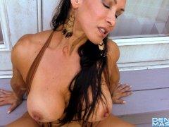 Denise Masino - Hippy UpSkirt Arm and Pussy Pump - Female Bodybuilder