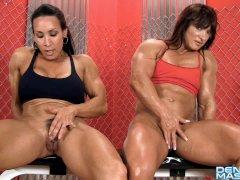 Denise Masino - Alicia Alfaro and Denise Masino Pumping Up - FBB