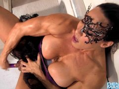 Denise Masino - Purple Toy Masquerade - Female Bodybuilder