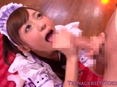 Dicksucking cfnm japanese teen bukkaked