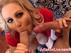 Sexy Milf Julia Ann Fucks Her Husband and Friend!