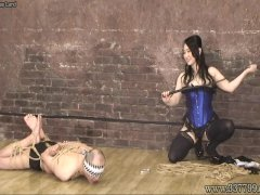 Mistress Land Masochist Man Hanging