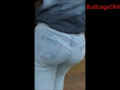 Candid Latin Woman Tight Jeans Bubble butt Street