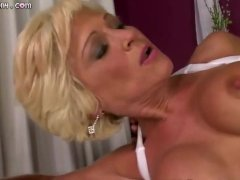 Granny with a perfect body gets fucked hard