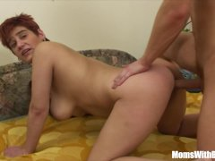 Busty Redhead Mama Asshole Fucked By Blonde Dude