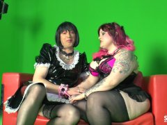 SexTape Germany - EMO delight with a German BBW fucking a bizarre dude