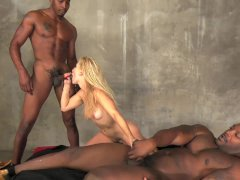 Ashley Fires in hard interracial anal gang bang