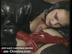 Pet Play mit altem Lustsklaven - Mistress reitet und bläst