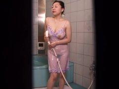 Japanese girl masturbates with water 2