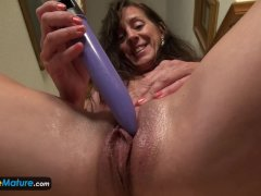 EUROPEMATURE Awesome granny Rose solo masturb