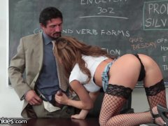 Busty Teen Fucks Teacher and Has Mommy Issues