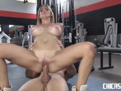 Chicas Loca - Busty Latina fucks in the gym