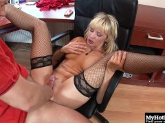 Nataly Dangelo has a taste for cock that never goes away, so working