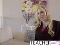 Bad Student Elsa Jean FFM Fuck With Sexy Teacher