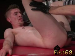 Teeny gay fisting Slim and smooth ginger