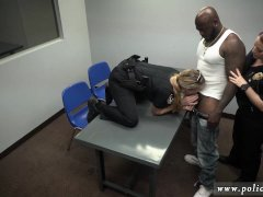 Blonde interracial swallow and backroom bff