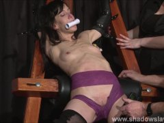 Extreme slave Elise Graves tit tormented and electro punished in hard bdsm