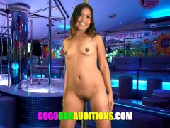 Desperate Thai girl looks to get hired at a Gogo bar