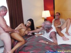 girl with old man and old mature