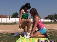 2 teens jerk first time Sporty teenagers