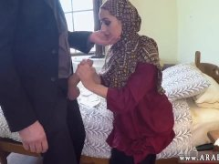 Arab fucks white woman first time No Money,