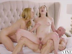 Erotická trojka s nadržaným párom