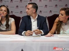 Nikki Benz & Tori Black judging girls blowjob skills in DPStar Season3 Ep4