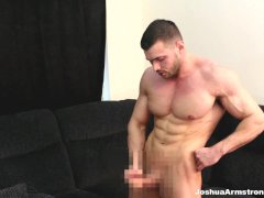 Muscle worship spandex fetish cum in massive biceps