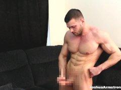 Muscle worship spandex fetish cum in massive biceps